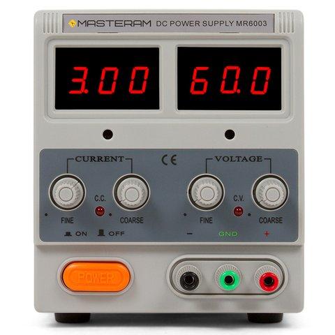 Лабораторний блок живлення Masteram MR6003 Прев'ю 1