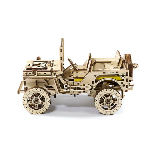 Деревянный механический 3D-пазл Wooden.City Автомобиль 4х4 Превью 1