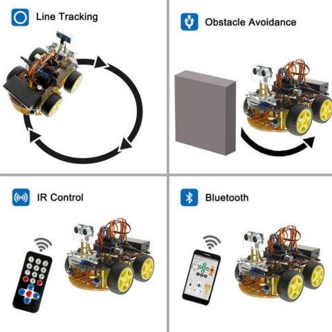 Конструктор Arduino Розумна машинка з Bluetooth-керуванням + посібник користувача Прев'ю 4