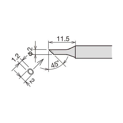 Soldering Iron Tip Goot RX-80HRT-2CD Preview 1